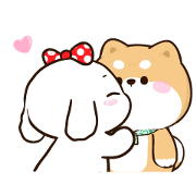 Shibung & Bingsu Animated 2 Sticker for LINE & WhatsApp | ZIP: GIF & PNG