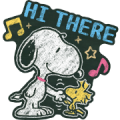 Snoopy: Chalk Art Sticker for LINE & WhatsApp | ZIP: GIF & PNG