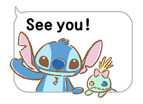 Stitch Pop-Up Cuteness Sticker for LINE & WhatsApp | ZIP: GIF & PNG