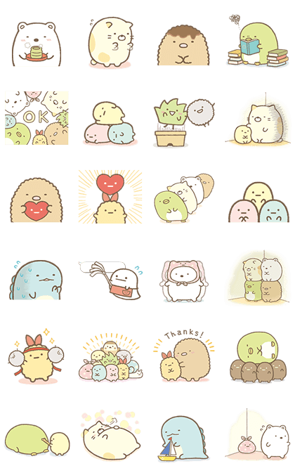 Sumikko Gurashi: More Animated Than Ever Line Sticker GIF & PNG Pack: Animated & Transparent No Background | WhatsApp Sticker