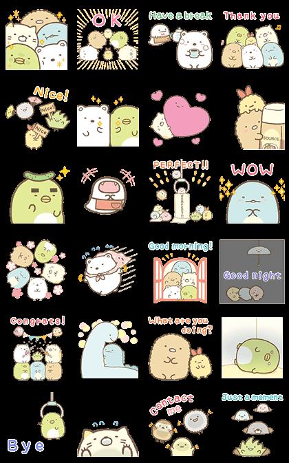 Sumikko Gurashi Pop-Up Corner Line Sticker GIF & PNG Pack: Animated & Transparent No Background | WhatsApp Sticker