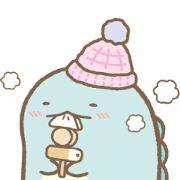 Sumikko Gurashi Winter Stickers Sticker for LINE & WhatsApp | ZIP: GIF & PNG
