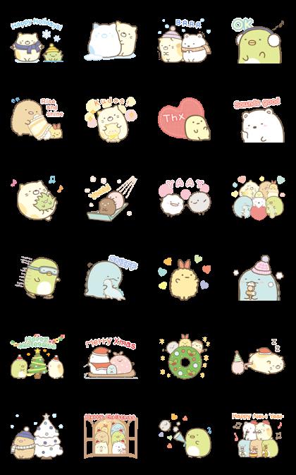 Sumikko Gurashi Winter Stickers Line Sticker GIF & PNG Pack: Animated & Transparent No Background | WhatsApp Sticker