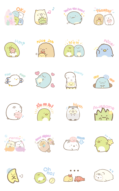Sumikko Gurashi Daily Stickers Line Sticker GIF & PNG Pack: Animated & Transparent No Background   WhatsApp Sticker