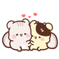 Sweet House : cute sweet bubbling Sticker for LINE & WhatsApp | ZIP: GIF & PNG