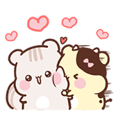 Sweet House's Couple in Love Sticker for LINE & WhatsApp | ZIP: GIF & PNG