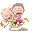 Taiwan Agon and Ama Sticker for LINE & WhatsApp | ZIP: GIF & PNG