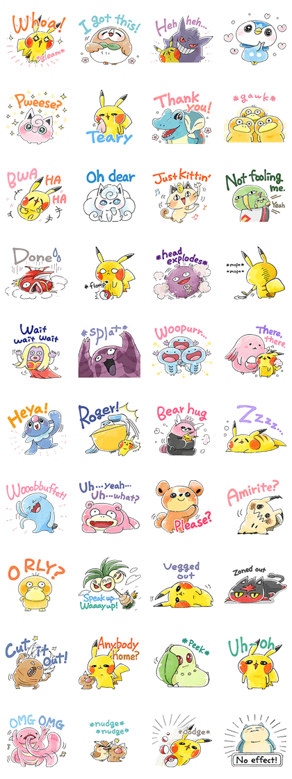 Team Rascal Pikachu Line Sticker GIF & PNG Pack: Animated & Transparent No Background | WhatsApp Sticker