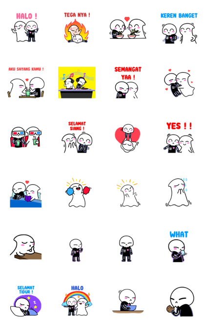 The Valentines Line Sticker GIF & PNG Pack: Animated & Transparent No Background | WhatsApp Sticker