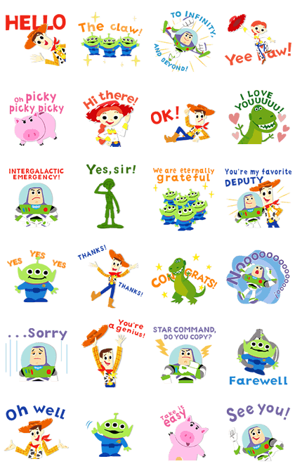 Toy Story Animated Stickers Line Sticker GIF & PNG Pack: Animated & Transparent No Background | WhatsApp Sticker