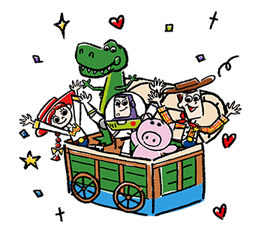 Toy Story Pop-Up Stickers Sticker for LINE & WhatsApp | ZIP: GIF & PNG