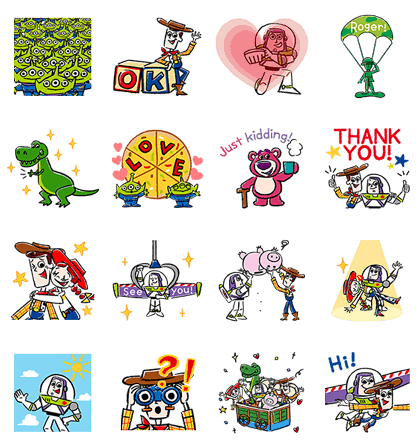 Toy Story Pop-Up Stickers Line Sticker GIF & PNG Pack: Animated & Transparent No Background | WhatsApp Sticker