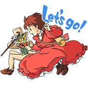 Whisper of the Heart Sticker for LINE & WhatsApp | ZIP: GIF & PNG