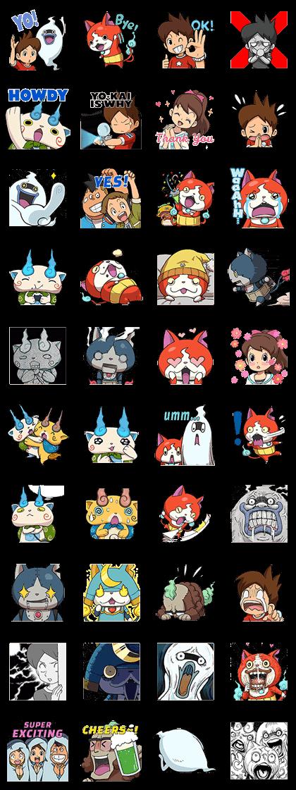 YO-KAI WATCH: Super Normal Stickers Line Sticker GIF & PNG Pack: Animated & Transparent No Background | WhatsApp Sticker