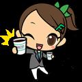 Yu Hibino with FAMIMA CAFÉ