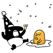 gudetama × LAIMO: Lazy Best Friends Sticker for LINE & WhatsApp | ZIP: GIF & PNG