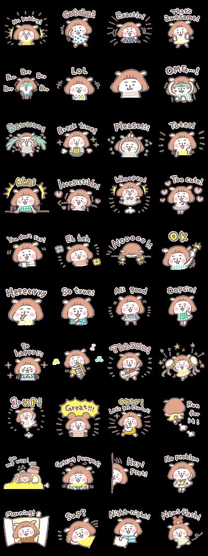 natsu me-me Line Sticker GIF & PNG Pack: Animated & Transparent No Background | WhatsApp Sticker