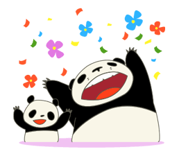 pandakopanda Sticker for LINE & WhatsApp | ZIP: GIF & PNG