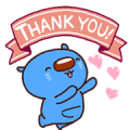 Aomaru, Mizuho's blue wombat 3. Sticker for LINE & WhatsApp | ZIP: GIF & PNG