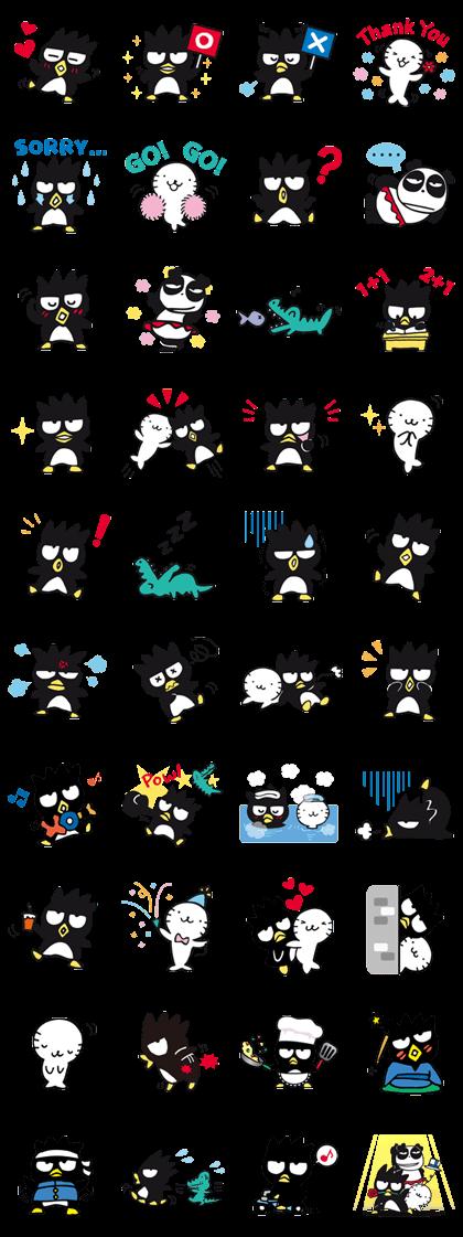 BAD BADTZ-MARU Line Sticker GIF & PNG Pack: Animated & Transparent No Background | WhatsApp Sticker