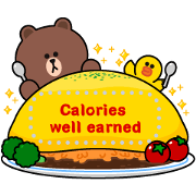 BROWN & FRIENDS Message Stickers Sticker for LINE & WhatsApp | ZIP: GIF & PNG