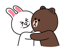 Brown & Cony Sticker for LINE & WhatsApp | ZIP: GIF & PNG