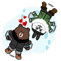 Brown's Love Story Sticker for LINE & WhatsApp | ZIP: GIF & PNG