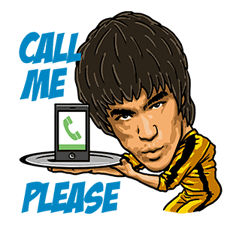 Bruce Lee Sticker for LINE & WhatsApp | ZIP: GIF & PNG