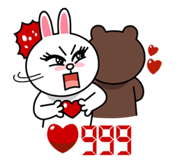 Cheon Song-Yi's Cony Special Sticker for LINE & WhatsApp | ZIP: GIF & PNG