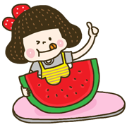 Cherry Coco: Summer Special Sticker for LINE & WhatsApp | ZIP: GIF & PNG
