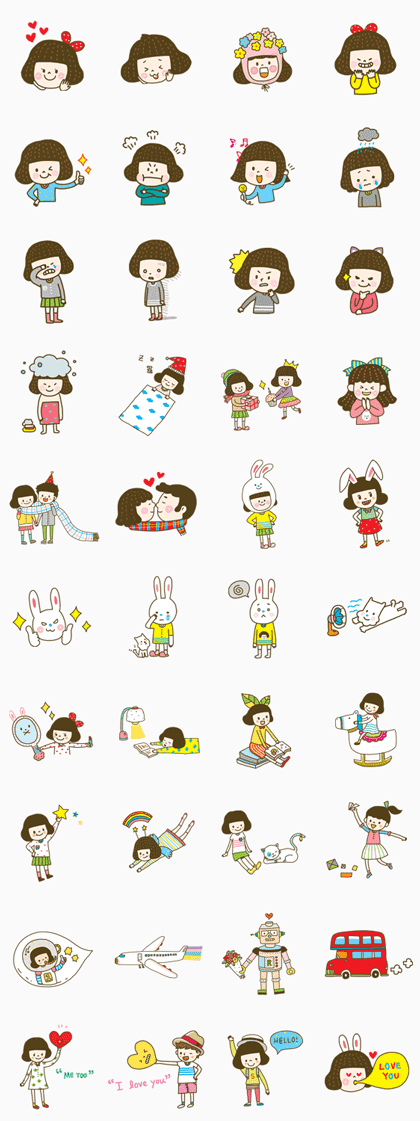 Cherry Coco Line Sticker GIF & PNG Pack: Animated & Transparent No Background | WhatsApp Sticker