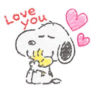 Cute Crayon Snoopy Stickers Sticker for LINE & WhatsApp | ZIP: GIF & PNG