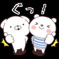 Cute White Dogs × SHIROKUMA Sticker for LINE & WhatsApp | ZIP: GIF & PNG