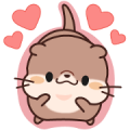 Daily Stickers of Cute Otter: Animated Sticker for LINE & WhatsApp | ZIP: GIF & PNG