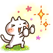 DoCLASSE × Simple white cat Sticker for LINE & WhatsApp | ZIP: GIF & PNG