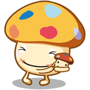 Docomodake Family Stickers Sticker for LINE & WhatsApp | ZIP: GIF & PNG