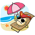 Docomodake: Trip Abroad Sticker for LINE & WhatsApp | ZIP: GIF & PNG