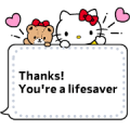 Hello Kitty Message Stickers Sticker for LINE & WhatsApp | ZIP: GIF & PNG