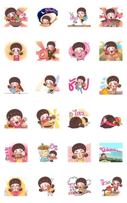 Juno: Young Girl 7 Line Sticker GIF & PNG Pack: Animated & Transparent No Background   WhatsApp Sticker