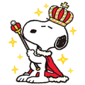 King Snoopy Stickers