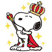 King Snoopy Stickers Sticker for LINE & WhatsApp | ZIP: GIF & PNG