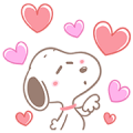 Lovely Snoopy Pop-Up Stickers Sticker for LINE & WhatsApp | ZIP: GIF & PNG