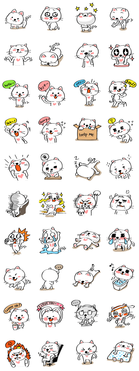 MOCHI's Funny Story Line Sticker GIF & PNG Pack: Animated & Transparent No Background | WhatsApp Sticker
