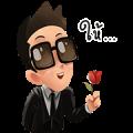 Mr. Black Sticker for LINE & WhatsApp | ZIP: GIF & PNG