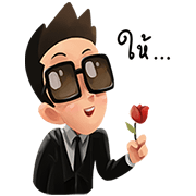 Mr. Black Sticker for LINE & WhatsApp | ZIP: GIF & PNG