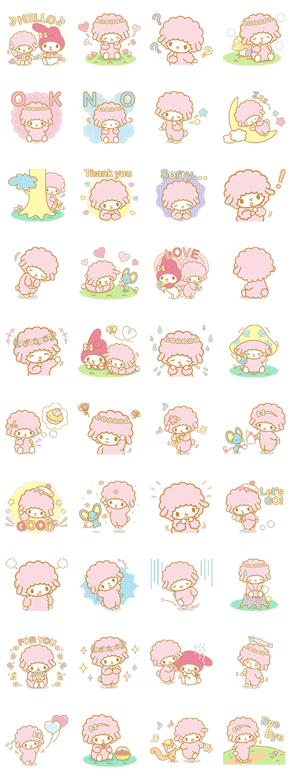 My Sweet Piano: Basking in the Good Life Line Sticker GIF & PNG Pack: Animated & Transparent No Background | WhatsApp Sticker