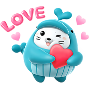 Ocean Life: OCHI Loves You Sticker for LINE & WhatsApp | ZIP: GIF & PNG