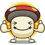 Phase 3 of the Docomodake stickers Sticker for LINE & WhatsApp | ZIP: GIF & PNG