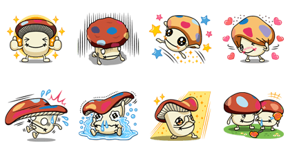 Phase 3 of the Docomodake stickers Line Sticker GIF & PNG Pack: Animated & Transparent No Background | WhatsApp Sticker