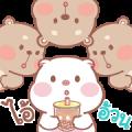 Pig & Bear Popup Sticker for LINE & WhatsApp | ZIP: GIF & PNG